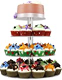 4 Tiers Cupcake Stands Towers Clear Acrylic Display Holder Tree Tiered Cupcake Carrier Round Tiered Pastry Stand Dessert Stands Tiered Round Wedding Cake Stands For Parties Birthday - DYCacrlic