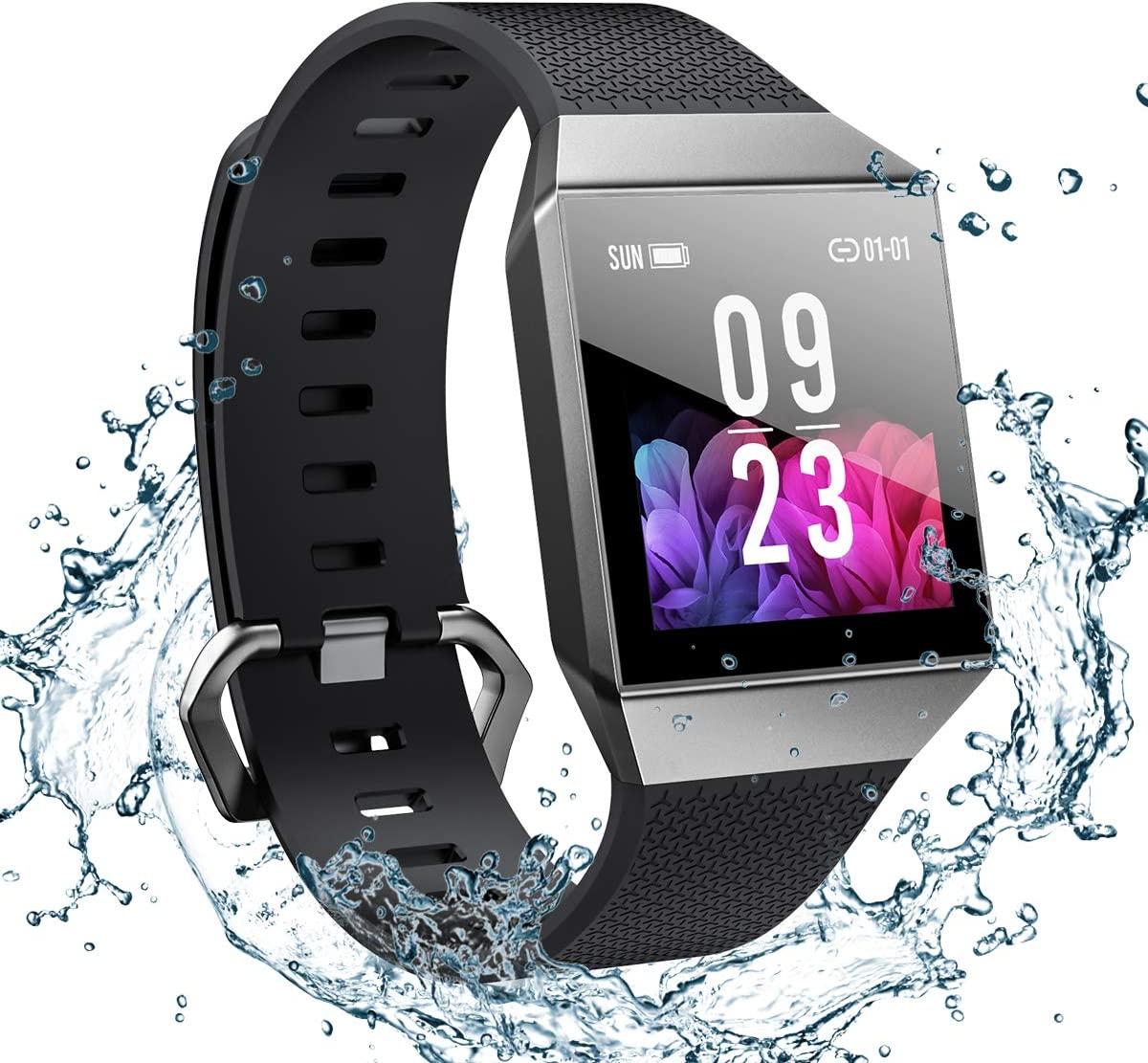 Smart Watch for Android and iOS Phone 2019 Version Smartwatch IP68 Waterproof, Bluetooth Fitness Activity Tracker with Heart Rate Monitor ECG PPG Pedometer Sleep Tracker Message Reminder, Men Women
