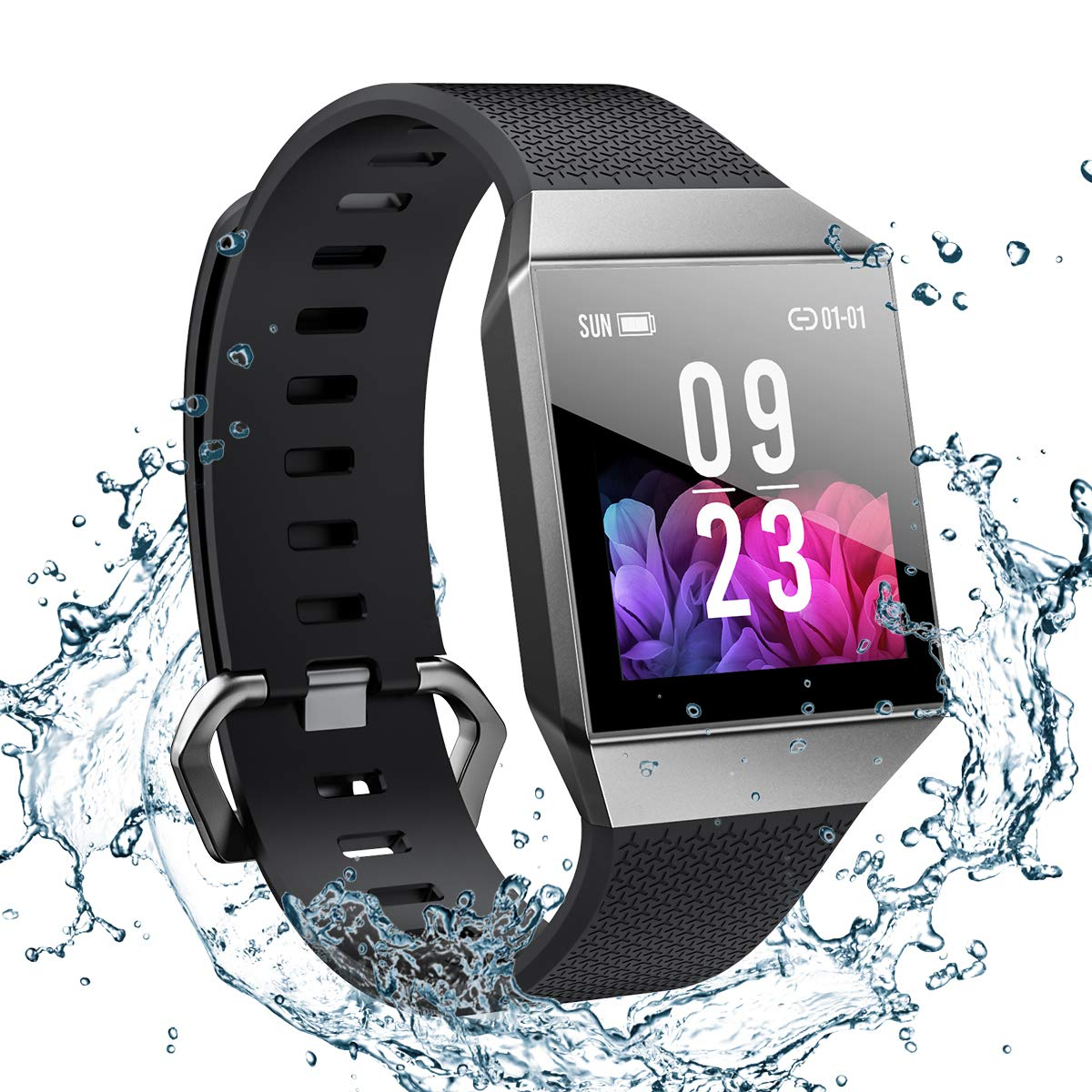 smart-watch-for-android-and-ios-phone-2019-version-smartwatch-ip68-waterproof-buletooth-fitness-activity-tracker-with-heart-rate-monitor-ecgppg-pedometer-sleep-tracker-message-reminder-men