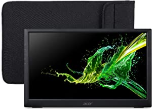 "Acer PM161Q bu Portable Monitor 15.6"" Full HD (1920 x 1080) (USB Type-C for Video/Power & Micro USB for Supplemental Power),Black"