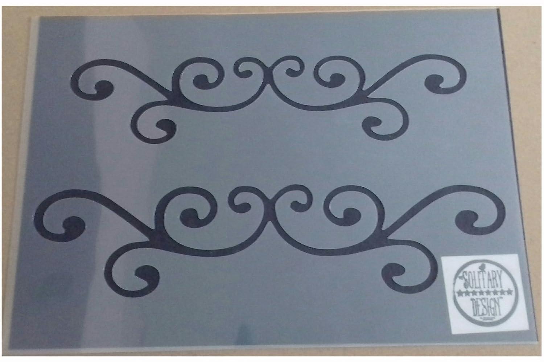 Pochoir Plat Damas Flourish shabby chic vintage A4/210/x 297/mm pour meuble Fran/çais Art mural
