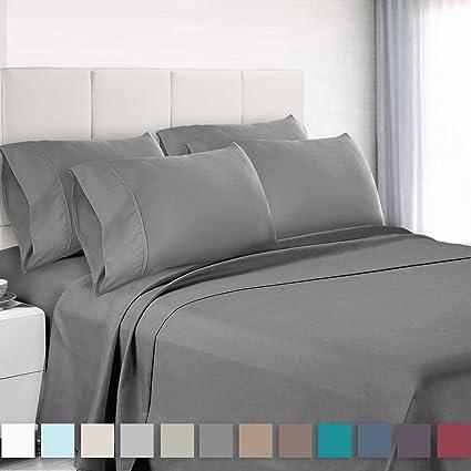 Premium 6 Piece Bed Sheet U0026 Pillow Case Set U2013 Luxurious U0026 Soft King Size