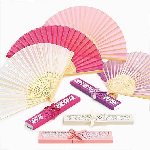 Abanico de bambú presentado en caja para regalo. Pack de 24 ...