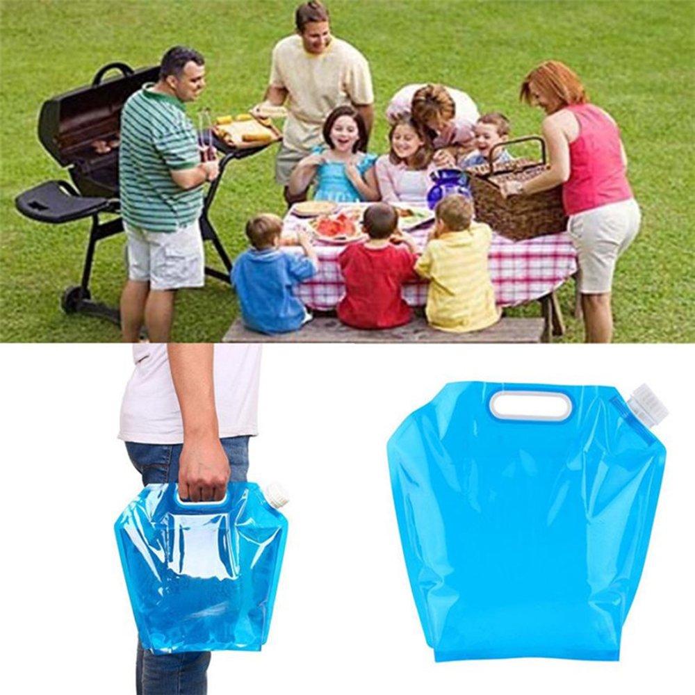 10L Contenedor plegable de agua potable?FLYING/_WE Bolsa de agua plegable portador de agua para acampar Senderismo barbacoa de picnic.