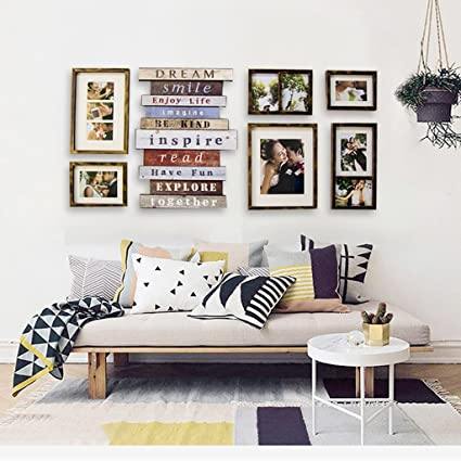 Gentil Amazon.com   KXBYMX Photo Frame Photo Frame Collage 6 Resin Frame Creative  Composition Bedroom Wall Decoration   Photo Wall