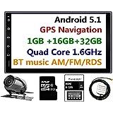 Panlelo PA09YZ32, Autoradio 2 DIN 7 pouces Full HD Ecran tactile Chef Unité Android 5.1 Navigation GPS voiture stéréo Quad Core 16 G+ 32 G Flash Bluetooth AM / FM / RDS Radio WiFi Caméra de vision arrière