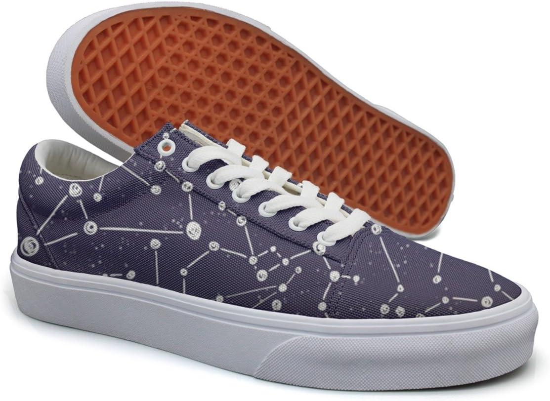 Landsr Zodiac Constellation Galaxy Star Mens Canvas Shoes Old School Sneakers
