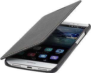 StilGut Book Type sans Clip, Housse en Cuir pour Huawei Mate S, en Noir