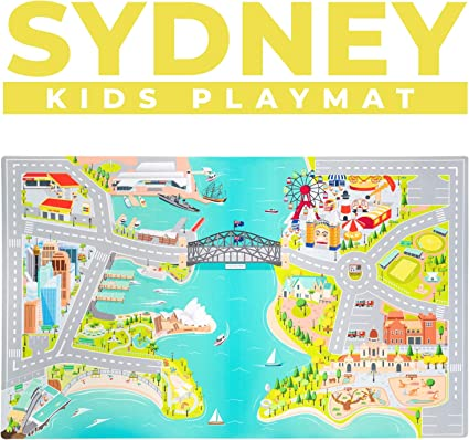 Kids Baby Non-Toxic Road Traffic Car City Town Map Safe Area Game Crawling OK