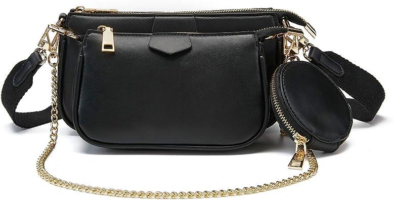 small crossbody bag for women and men,anti theft shoulder bags zip bag crossbody Olorful 7x1.8 inch