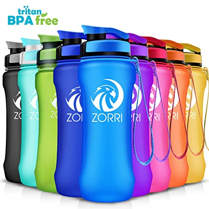 81cd2f6db0 Best Sports Water Bottle 1L/ 1.2 Litre/ 600/ 800ml, Leak Proof, BPA Free  Lightweight Reusable Gym Portable Large Drink Bottles With Filter for Kids,  ...