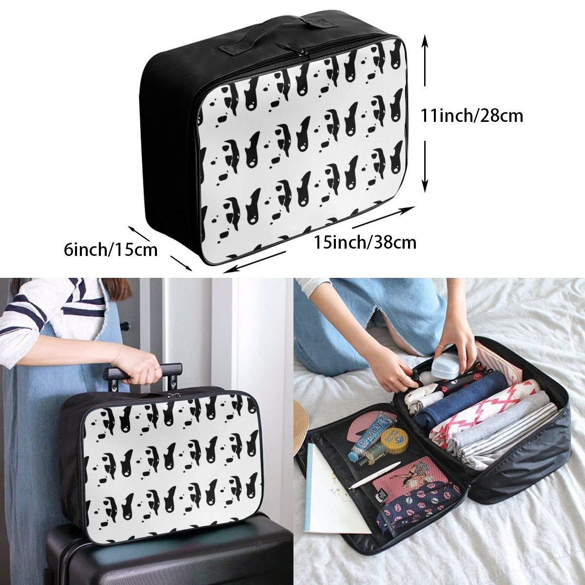 Travel Duffel Bag Waterproof Fashion Lightweight Large Capacity Portable Luggage Bag Dalmatian
