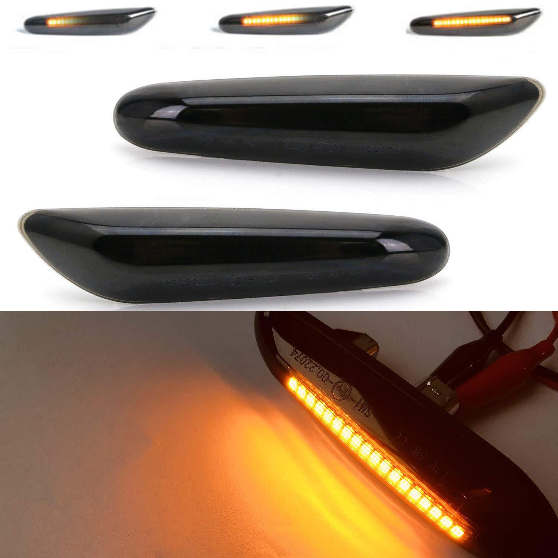 2 luces LED de luz intermitente intermitente de color /ámbar de flujo din/ámico