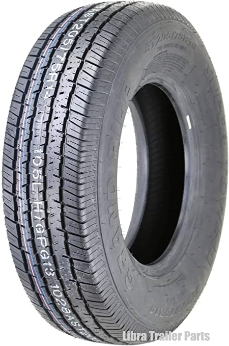 8PR Load Range D Steel Belted Radial Set 3 Premium Grand Ride Trailer Tires ST205//75R14