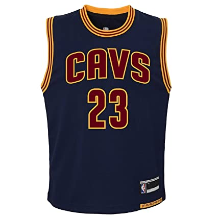 13f49a679 Outerstuff Lebron James Cleveland Cavaliers  23 Youth Alternate Jersey Navy  (Youth Medium 10