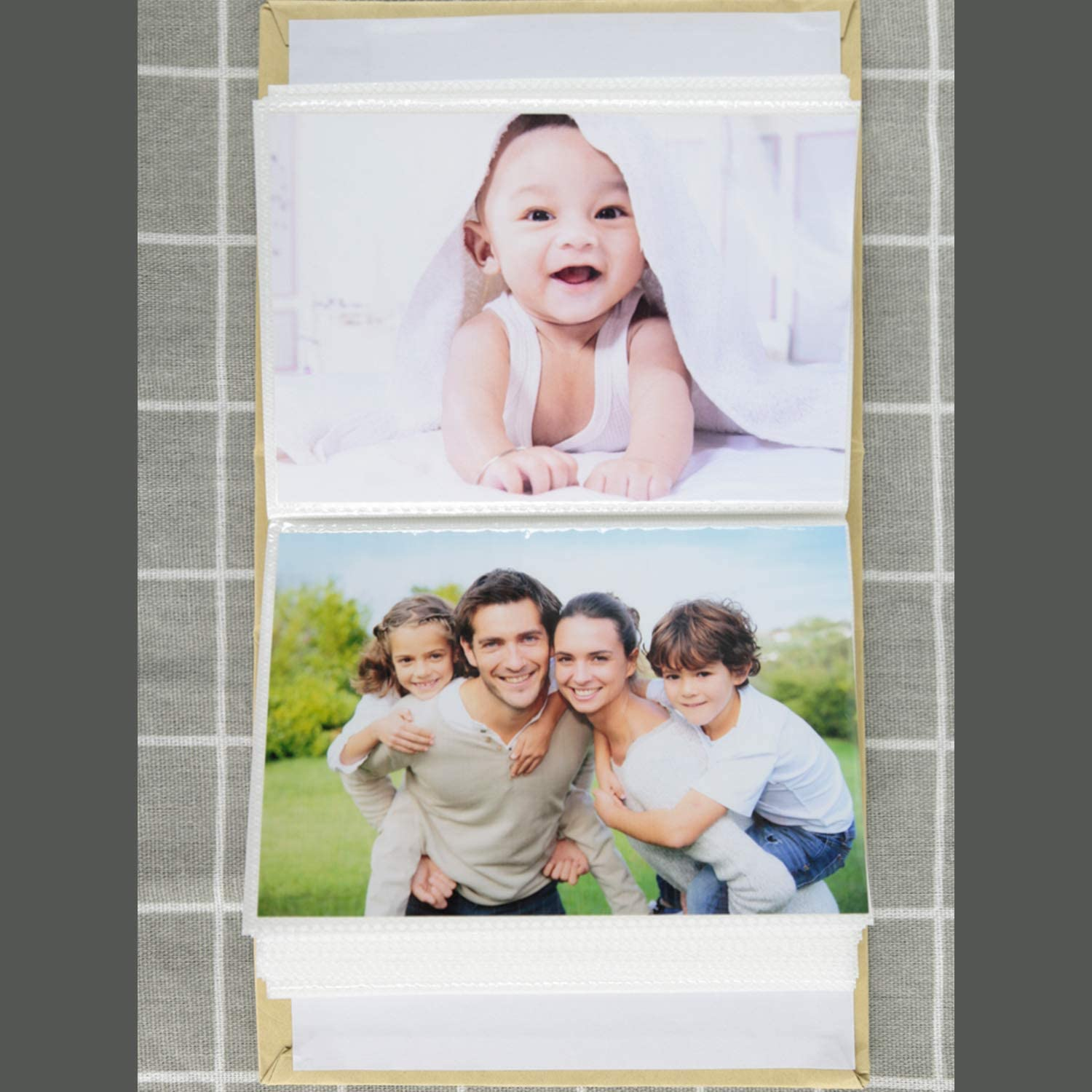 NLC Big Photo Album Baby Journal 5x3.5 inches,200 Photos Childrens Pictures Album,Family Photo Album,Wood
