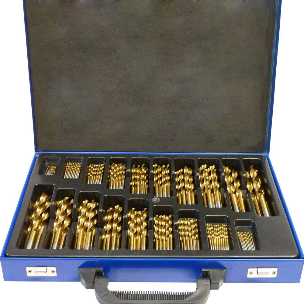 NORTOOLS DIN338 Juego de 99 brocas con revestimiento de titanio