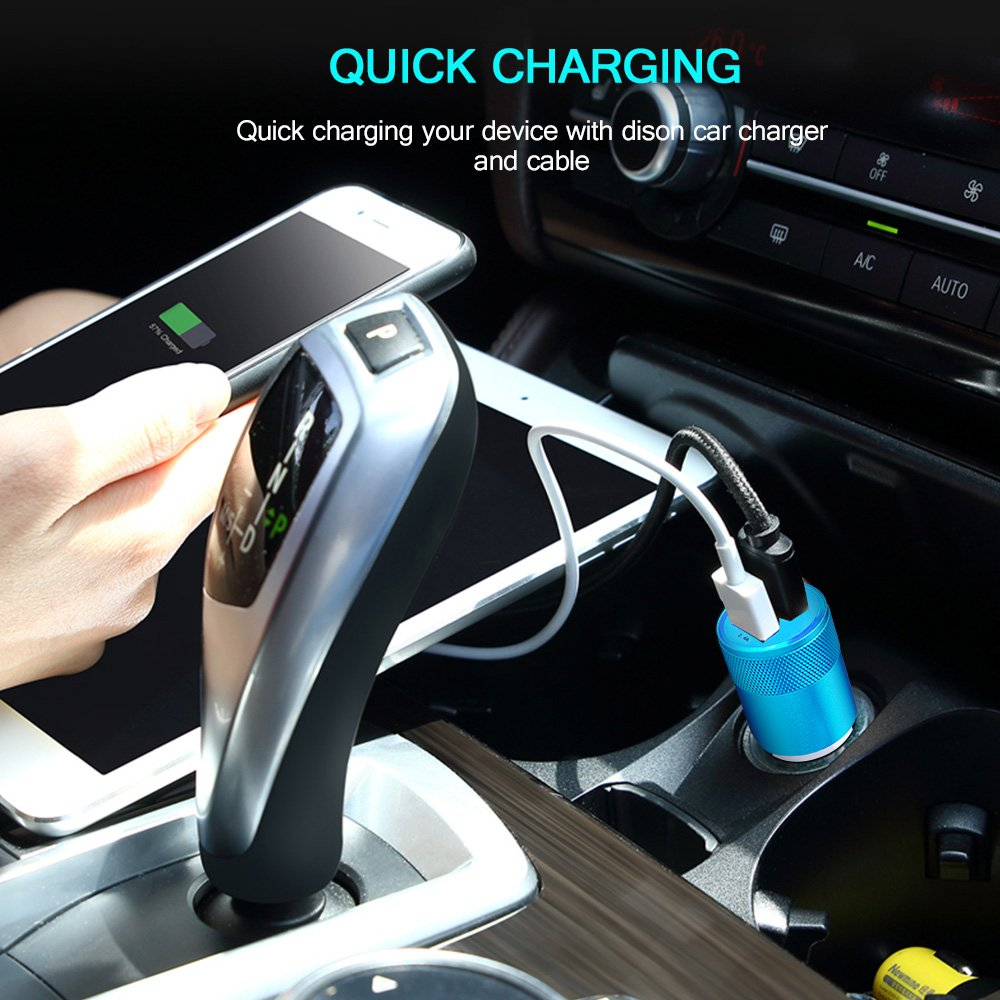 LG Stylo 4 LG G6 V20 V30 G7 ThinQ,Moto Z Play,Google Pixel,Nexus 6P 5X USB C Car Charger,HUHUTA Universal Fast Car Charger Adapter with 6ft Type C Charger Cable Compatible Samsung Galaxy S9//Note 9