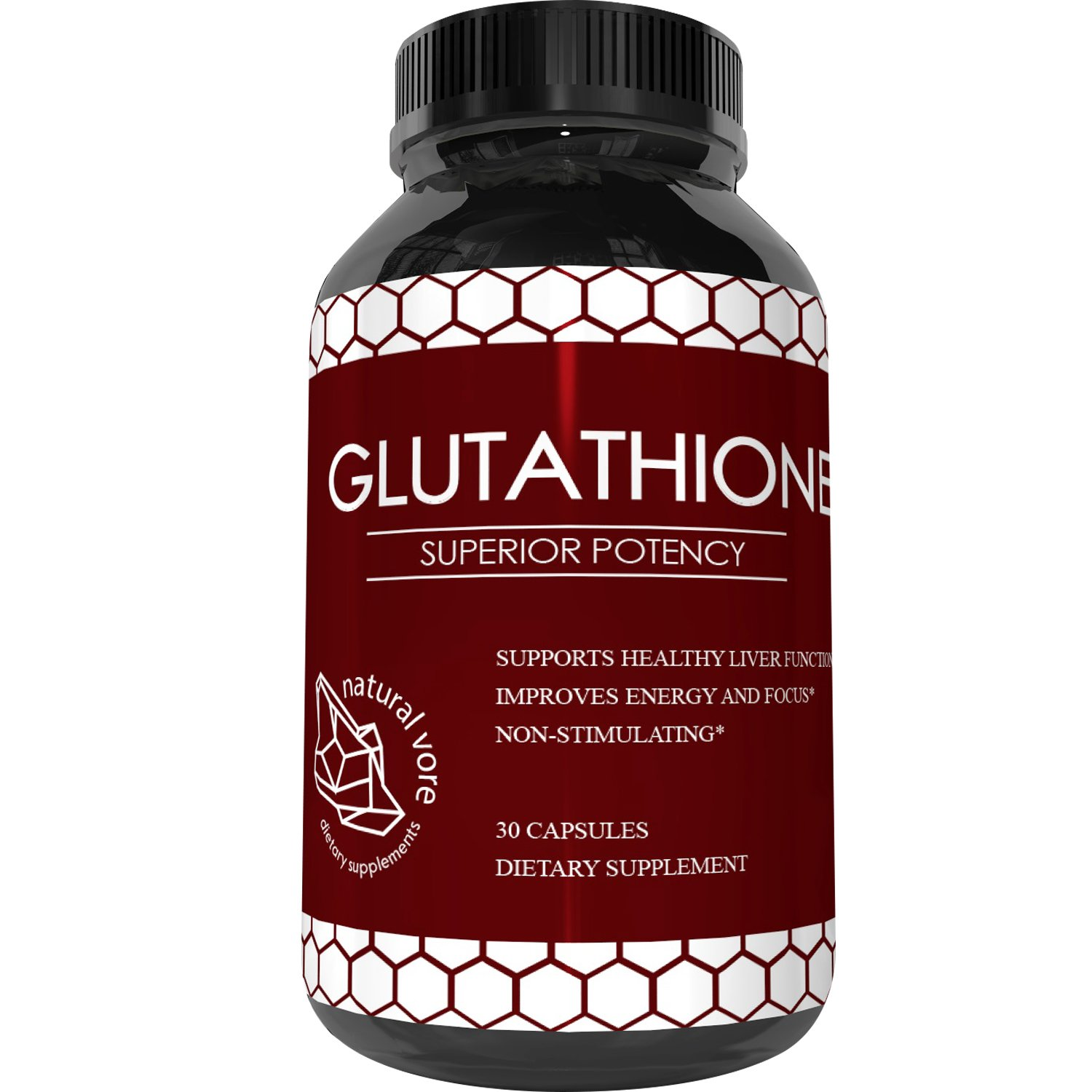 Best Glutathione Supplement – Natural Skin Whitening Anti-Aging Benefits Reduced L-Glutathione Pills for Men Women – Pure Antioxidant Milk Thistle Extract Liver Health GSH Detox – Natural Vore