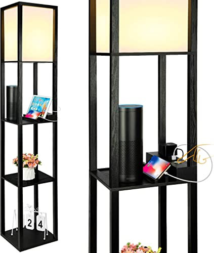 3-Way Dimmable Shelf Floor Lamp