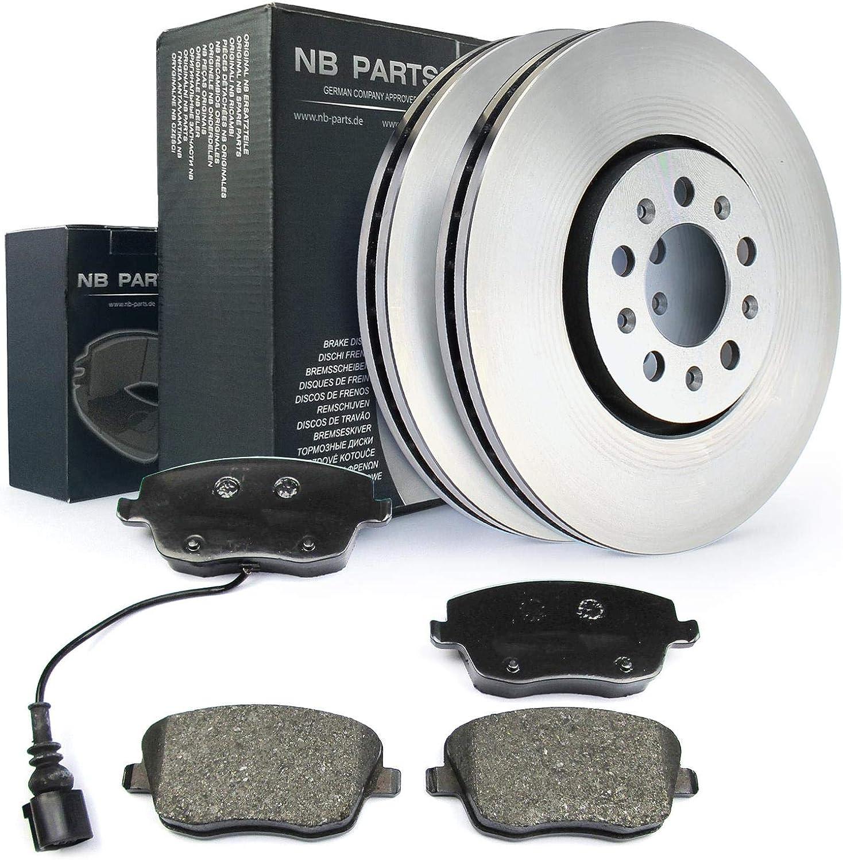 NB 10040602 Germany Disques de frein /Ø 288 et freins /à disque avant et arri/ère Orange