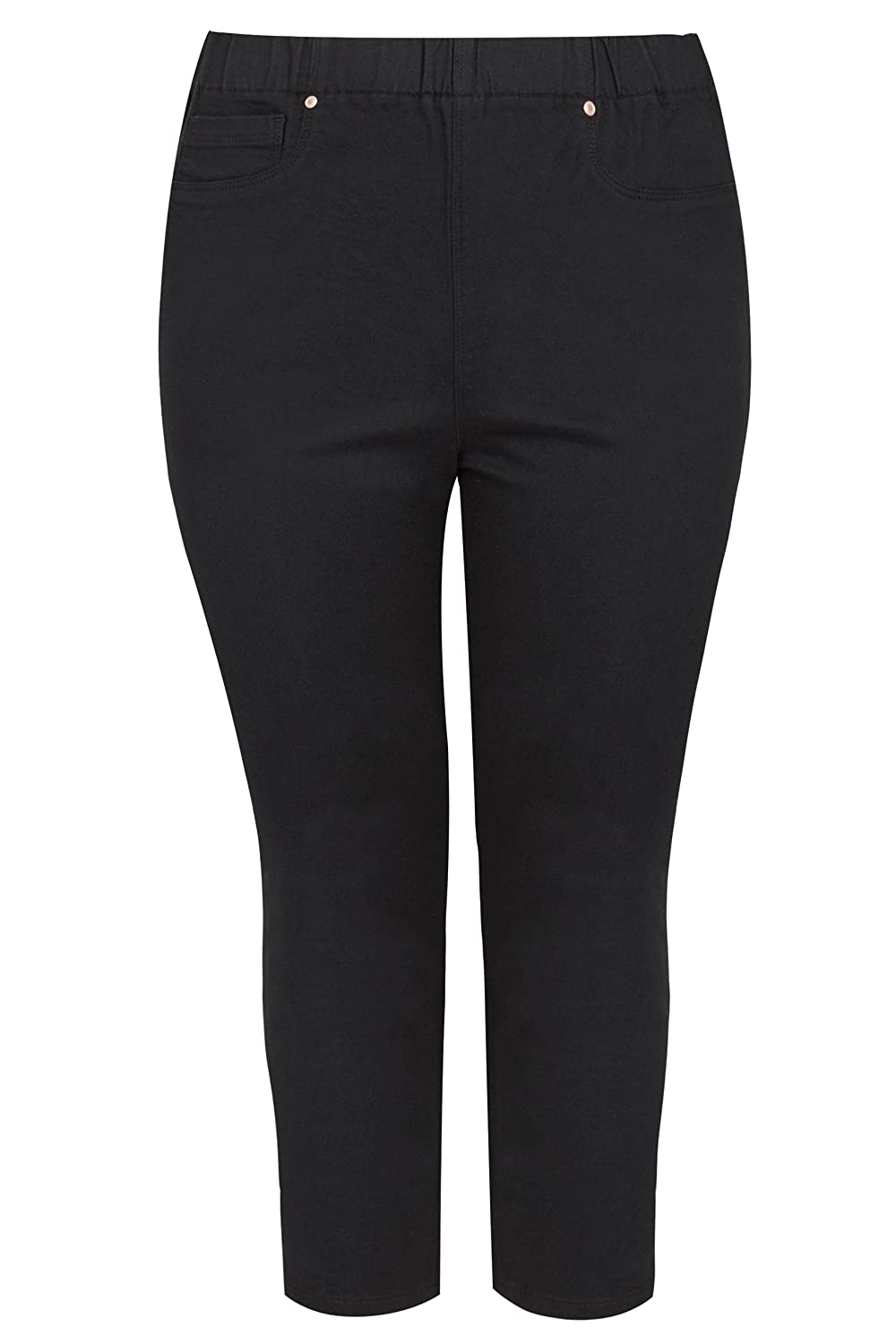 Yours Clothing Womens Plus Size Bleach Cropped Jenny Jeggings
