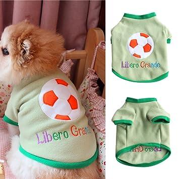 Yimosecoxiang - Camiseta de fútbol Transpirable para Mascotas, diseño de Letras Grandes, con Texto