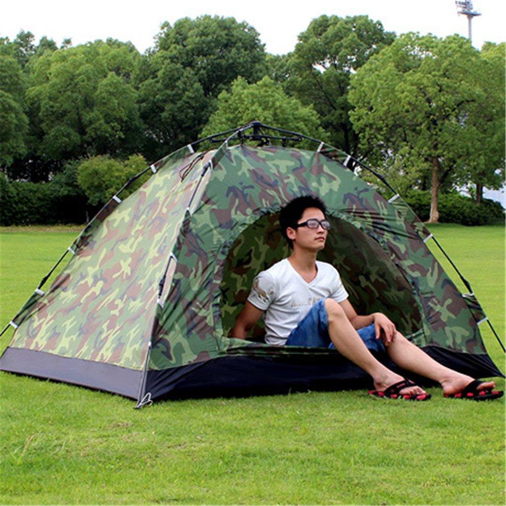 RFVBNM Zwei-Personen-Tarn Automatik Zelt Camping Campingplatz 1-2 Personen Einzel-super leichte Outdoor-Zelt-Paket 200  150  110cm