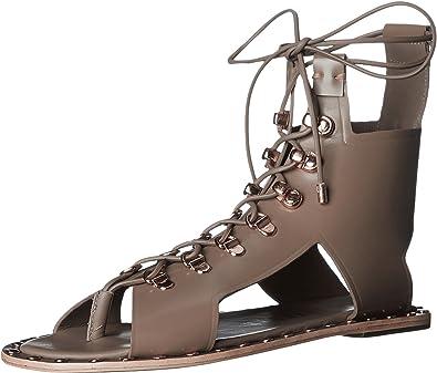 b2c28993c5bc9a Ivy Kirzhner Skylar Studded Leather Lace-Up Sandal Truffle Tie Up Gladiator  (6)