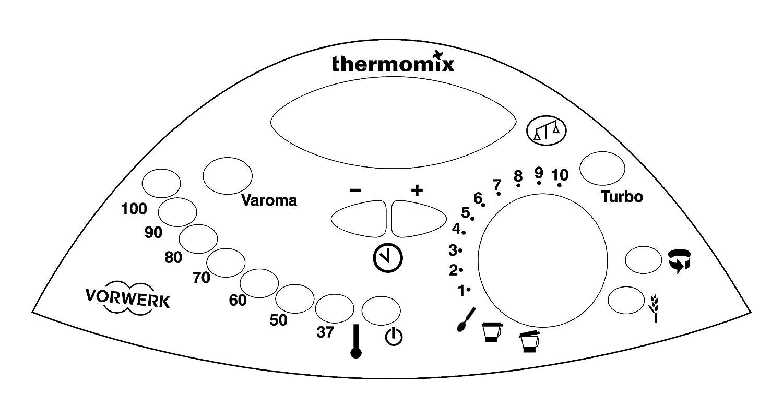 adesivo del pannello di controllo per thermomix tm31 Thermodernizate.com