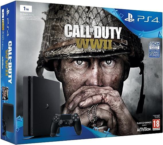 PlayStation 4 (PS4) - Consola De 1 TB + COD WWII: Amazon.es ...