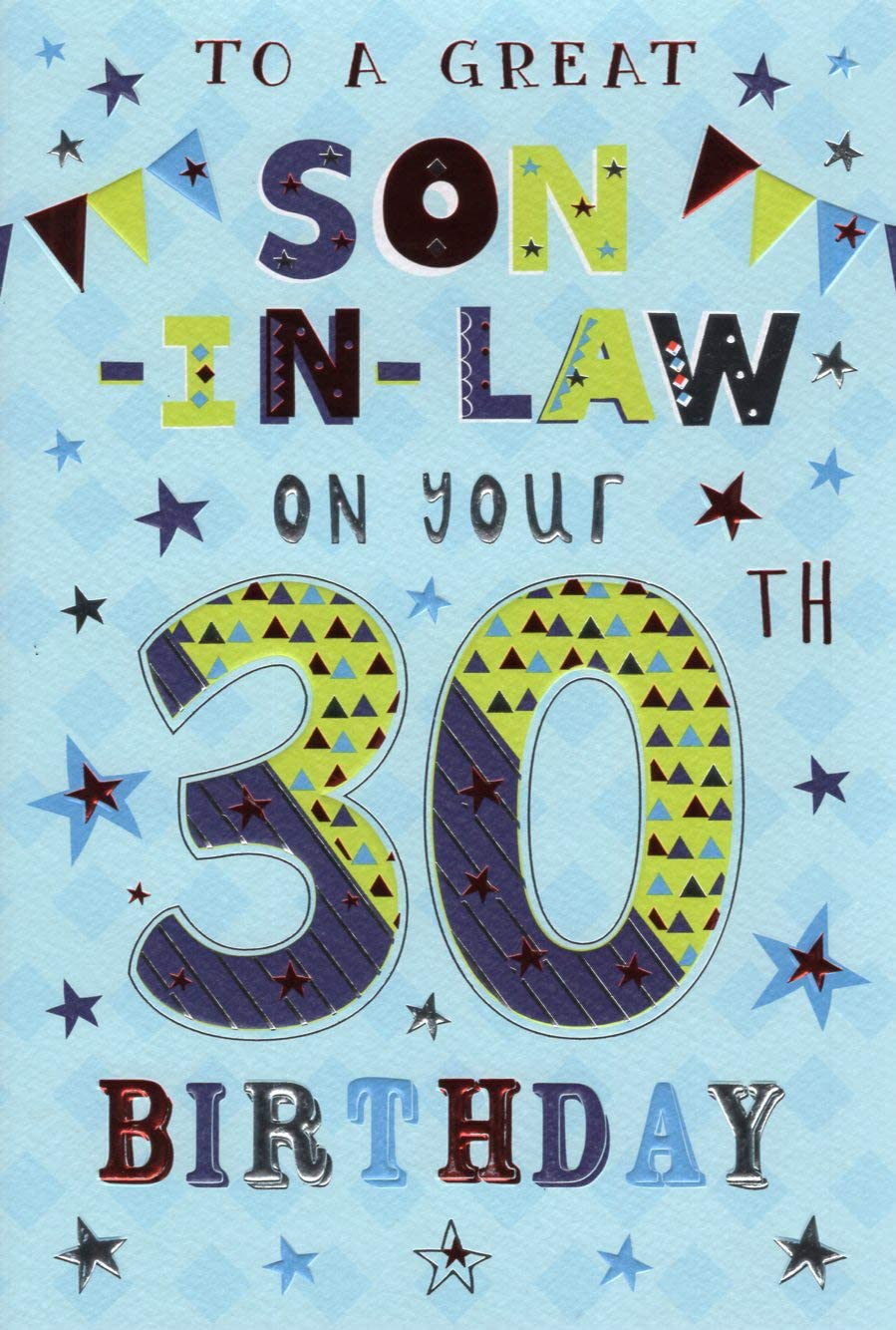 Son-in-Law Birthday Card Various Designs To Choose From.