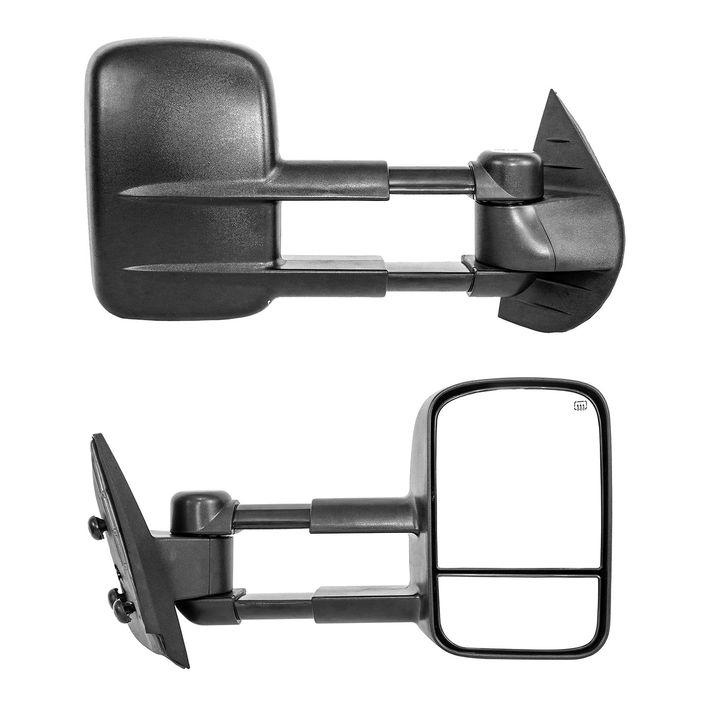 Paragon Telescopic Towing Mirrors for 2014-18 Chevy Silverado//GMC Sierra 1500 /& 2015-18 Silverado//Sierra 2500//3500 Black Pair Set Powered Heated