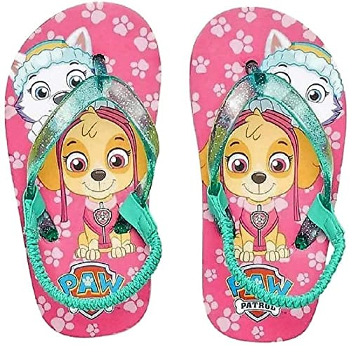 95d67da085f53 Image Unavailable. Image not available for. Color  Everest   Skye Paw  Patrol Thong Flip Flop Sandals Girls ...