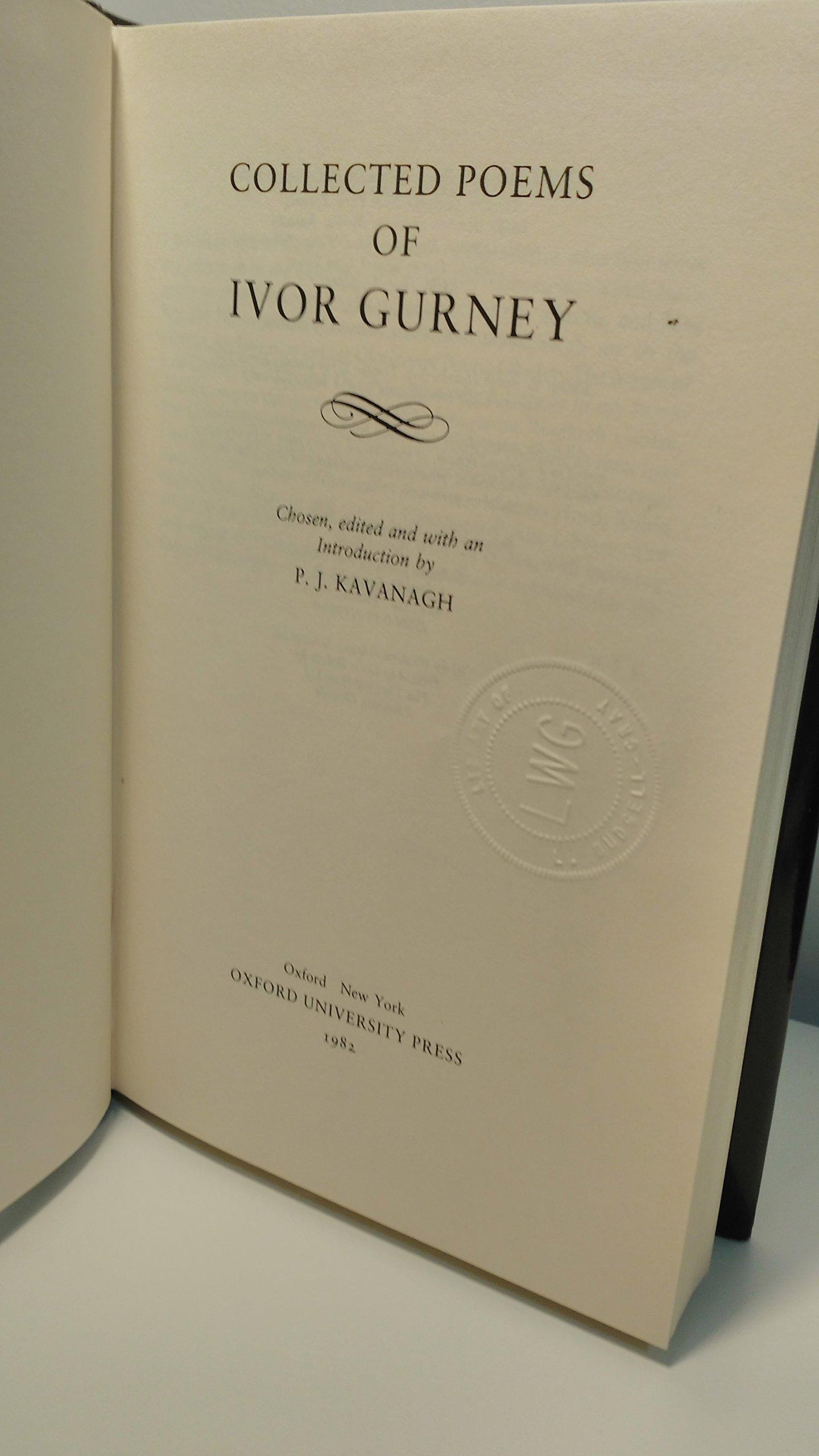 collected poems gurney ivor kavanagh p j