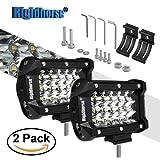 "Led Light Bar Rigidhorse Triple Row 2 Pcs 5"" 36W LED Spot Lights Pods Lights LED Cube Lights Work Light For SUV Trucks Wrangler ATV SUV Jeep"