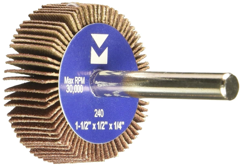 Grit 60 20-Pack Mercer Industries 361060 Mounted Flap Wheel 1-1//2 x 1//2 x 1//4