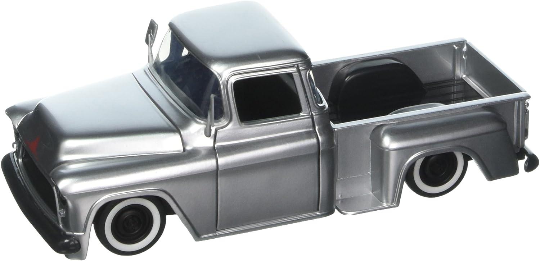 Chevrolet Chevy Stepside Pick-Up Schwarz 1955 1//24 Jada Modell Auto