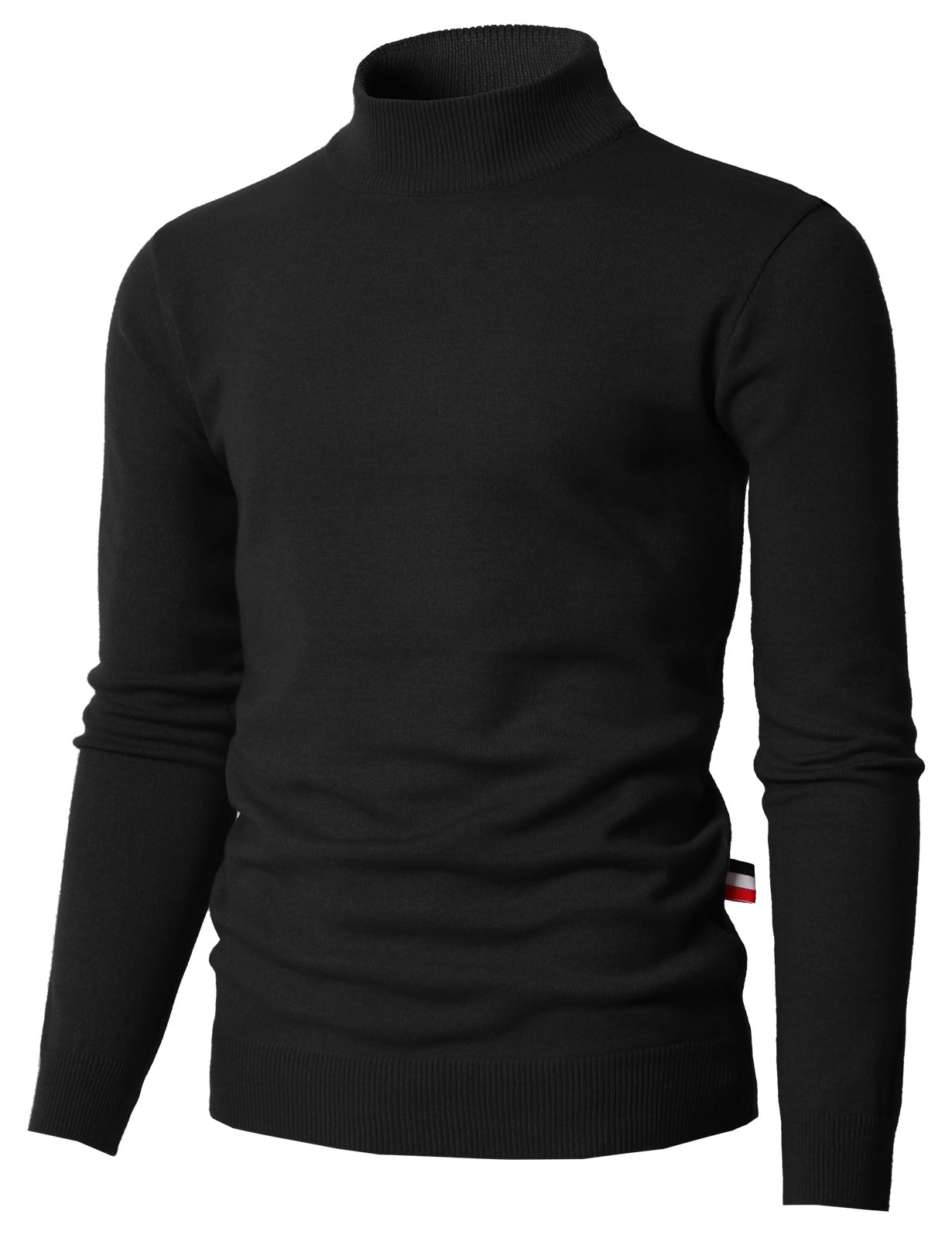 H2H Mens Premium 100% Cashmere Mock Neck Knitted Thermal Sweater Black US M/Asia L (KMOSWL0201)