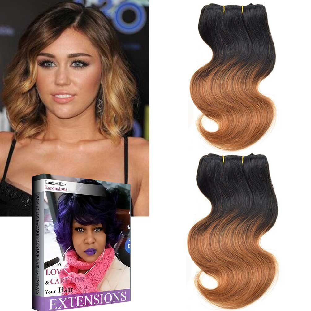Amazon hanne 6pcs brazilian virgin hair body wave 8 short emmet brazilian hair extension ombre color virgin hair can be dyed and permed body wave easy pmusecretfo Image collections