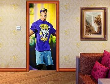 Amazoncom John Cena DOOR WRAP Decal Sticker Wall Mural