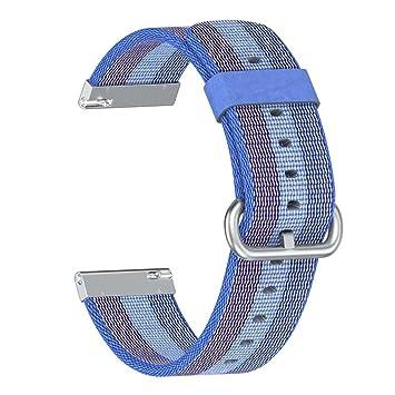 99native Leichte Nylon verstellbare Ersatz Armband Sport Armband für Fitbit Versa
