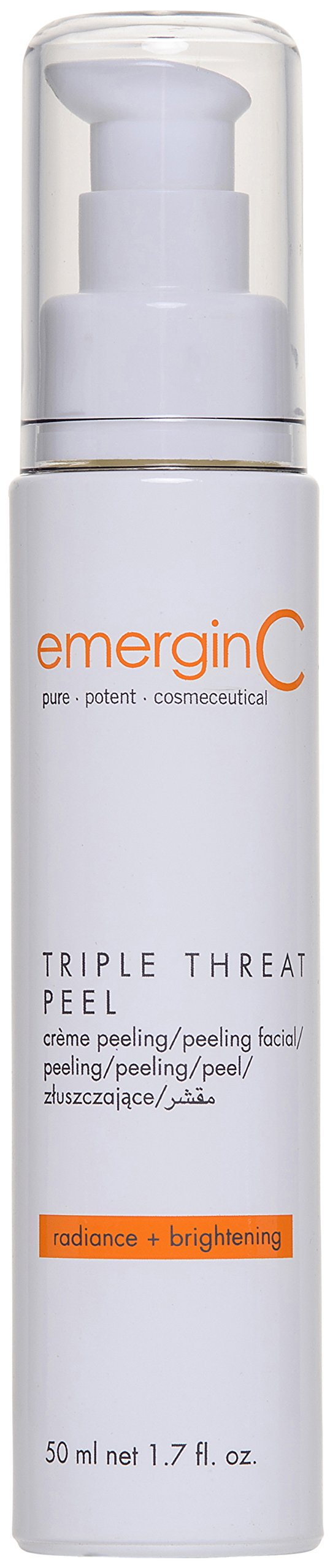 emerginC - Triple-Threat Facial Peel, Glycolic Acid + Retinol Exfoliant to Address Uneven Tone + Texture (1.6oz / 50 ml)