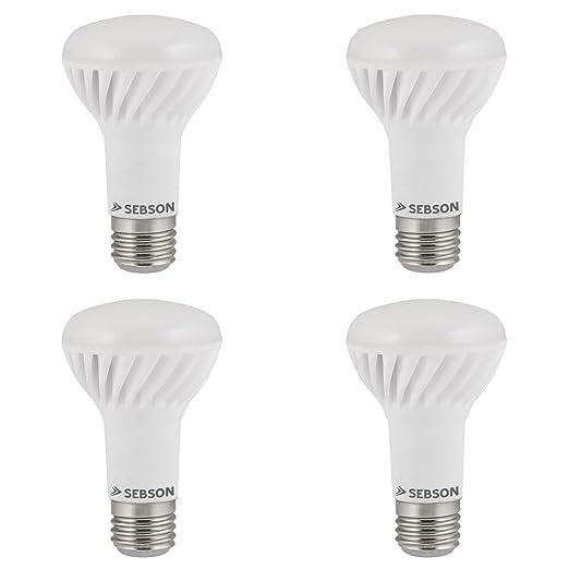 SEBSON® 4 x E27 LED 7W (Equivale de 45W - Calido-Blanca - 160° Haz de luz -E27 Casquillo - 230V AC - 550lm)
