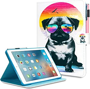 Powertion Case Fit iPad Mini 5 2019 (5th Generation 7.9 inch) Slim Leather iPad 7.9 Case Lightwieght Smart iPad Shell Stand Cover w/Auto Wake/Sleep Pen Holder for 7.9'' iPad Mini 1/2/3/4/5, Bullfight