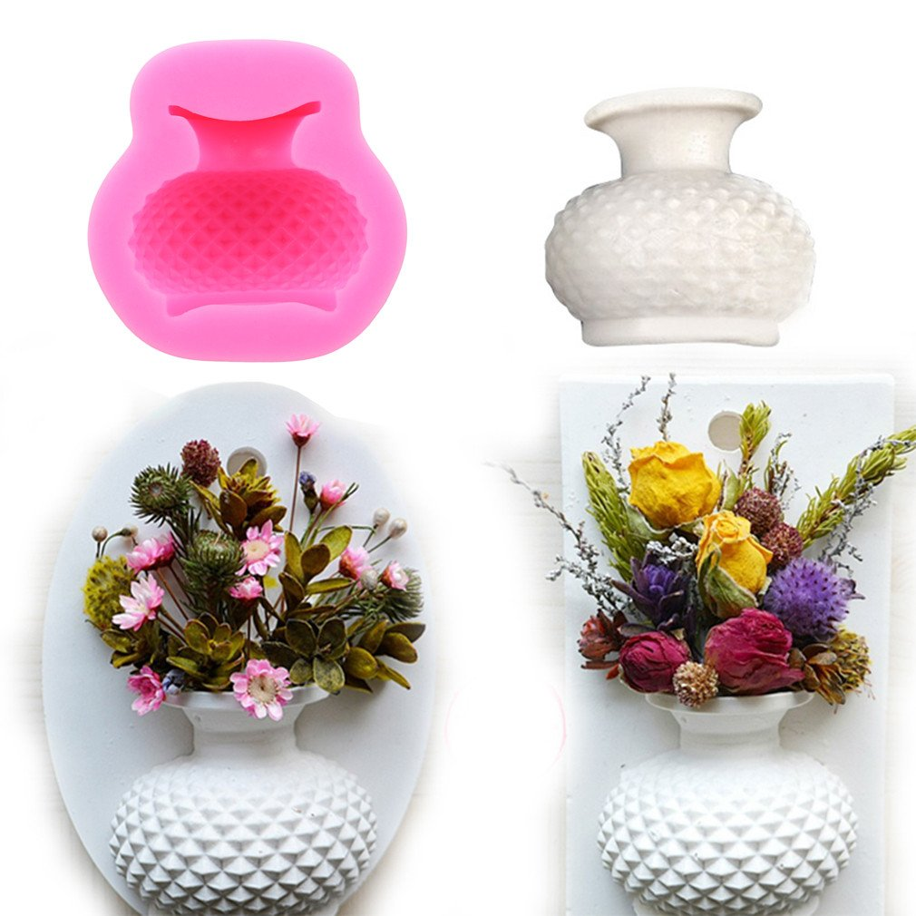 Timetries 3D Vase Silikonform Schokolade Gebäck Süßigkeiten Seife Form Kuchen Dekorieren Werkzeuge DIY Silikon Backen Fondant Formen mei_mei9