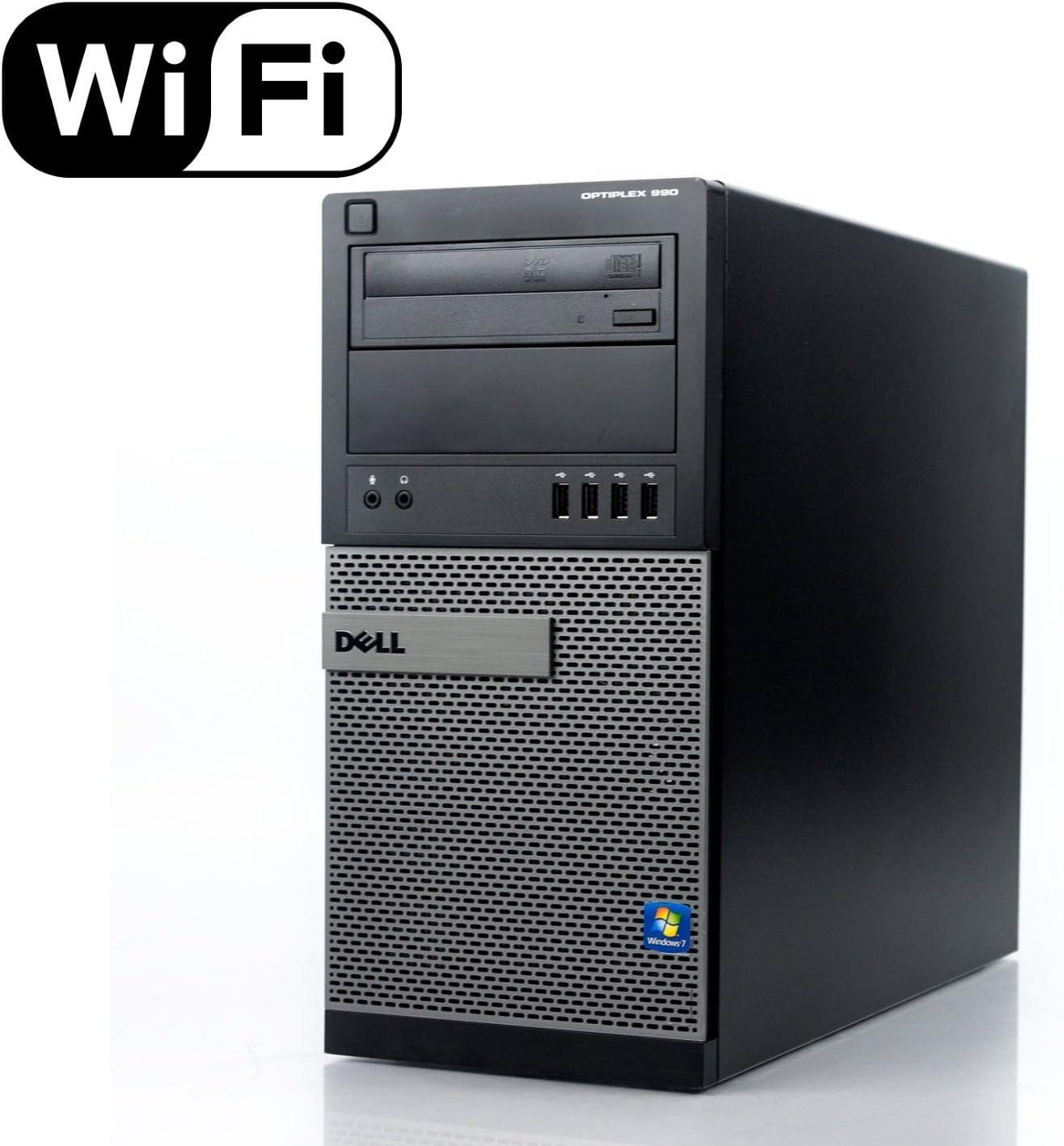 Dell Optiplex 990 Tower Business Desktop Computer, Intel Quad Core i5-2400 up to 3.4Ghz CPU, 8GB DDR3 RAM, 500GB HDD, DVD, VGA, Windows 10 Professional Renewed
