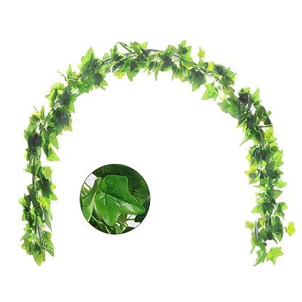 amazon com justoyou 5pcs 44ft artificial ivy leaf garland plants