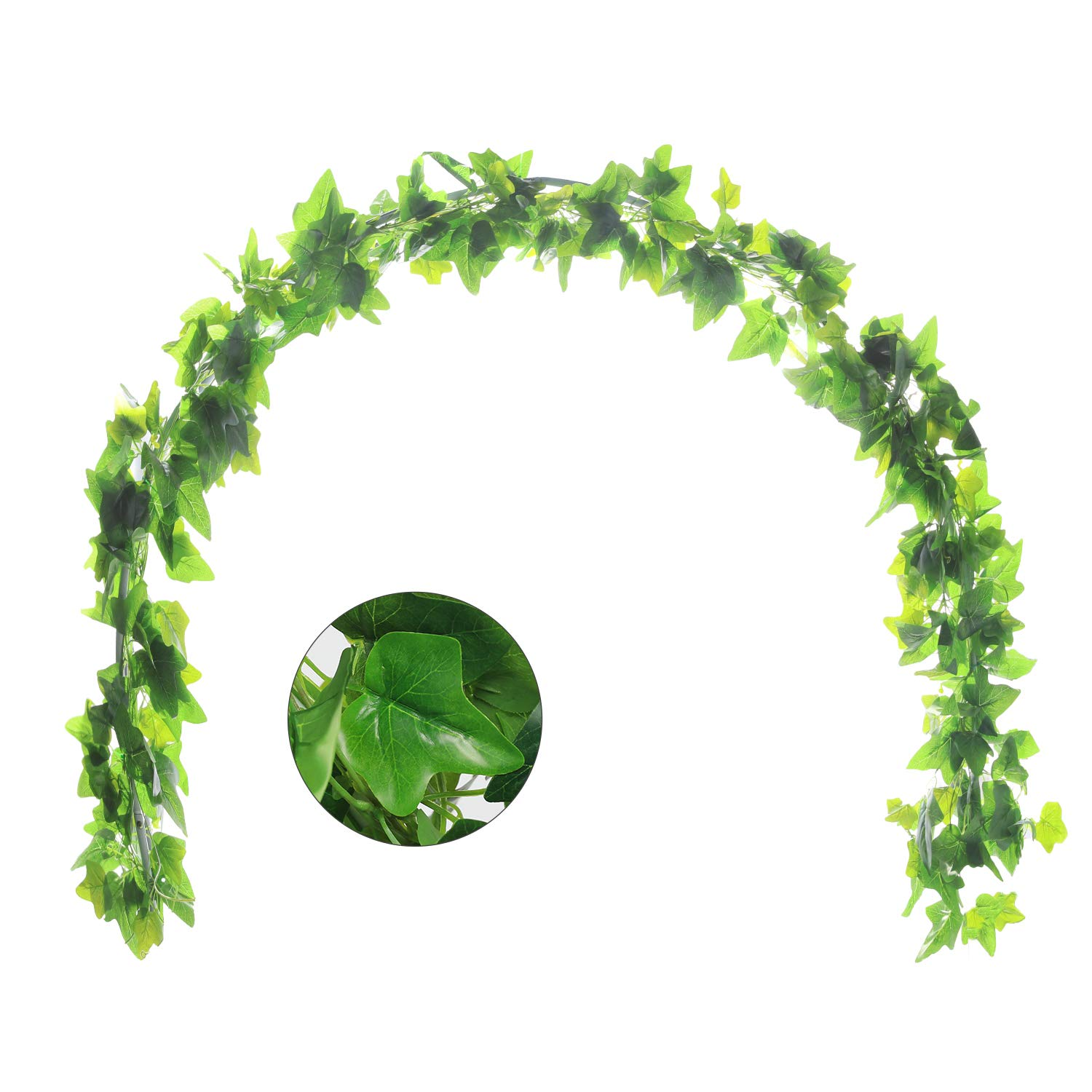 5Pcs 44Ft Artificial Ivy Leaf Garland Plants Vines with leaves Hanging Greenery Fack Ivys Vines for Wedding Outside Party Home Decor by JUSTOYOU
