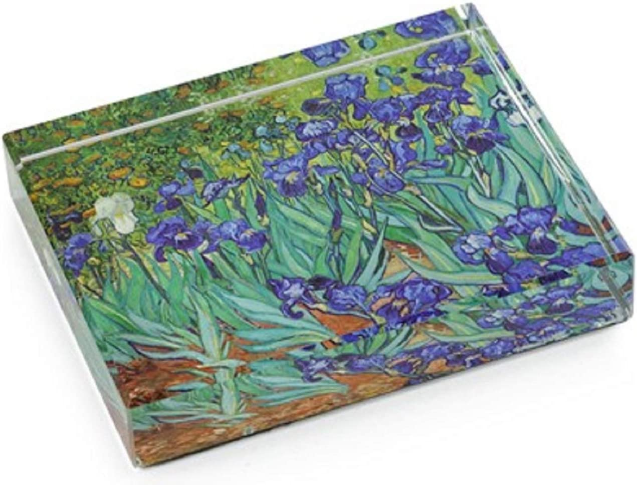 Irises by Vincent Van Gogh DeskPop Crystal Paperweight
